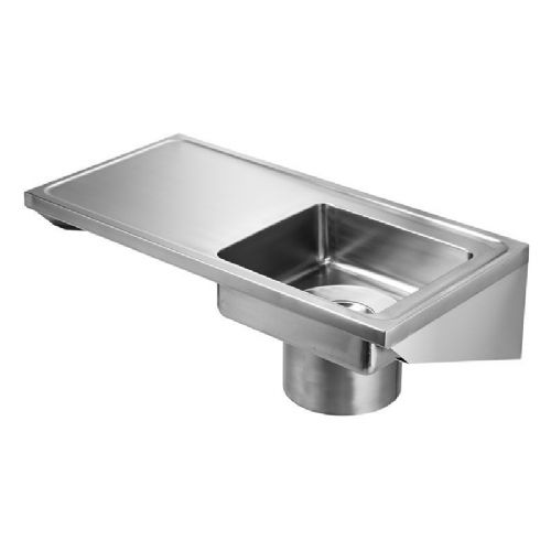 Franke G22000L Wall-Mounted Plaster Sink with Left-Hand Drainer